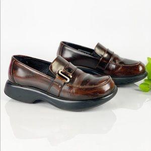 Dansko Brown Casual Work Clog Platform Loafer 40